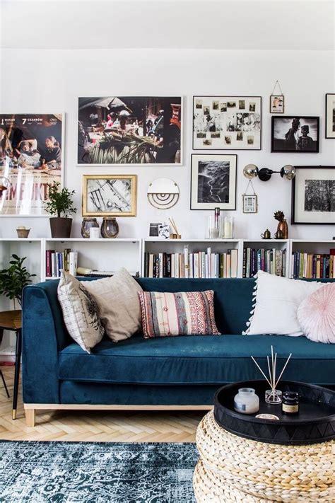 Furniture: Trendy Blue Velvet Couch Design To Inspired