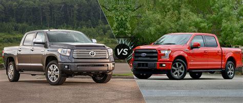 Ford Truck Vs Toyota Tundra 2015 Toyota Tundra Vs 2015 Ford F150