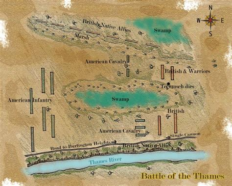 battle of thames river map vengeance on the thames frontier partisans