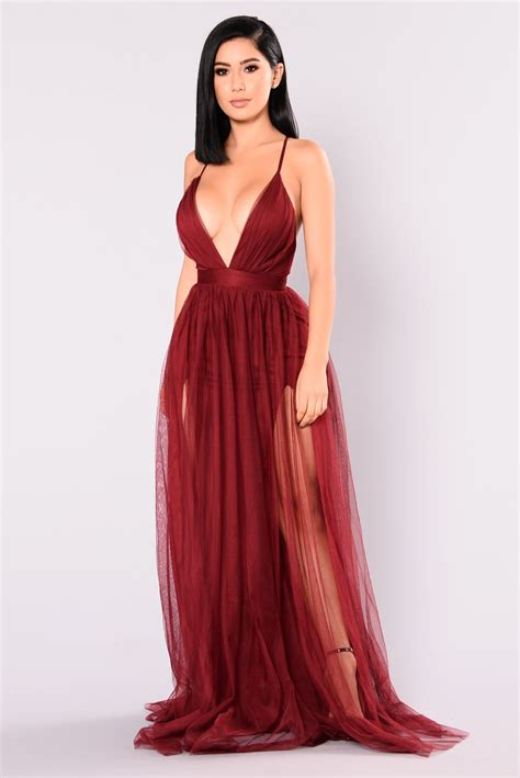 Wine Maxy on the runway maxi dress wine