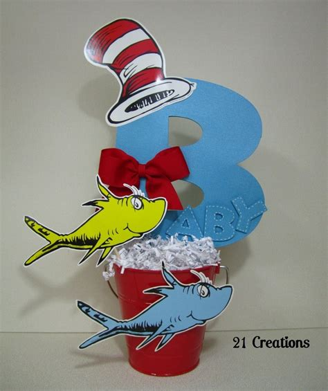 dr seuss centerpiece for baby shower baby shower theme