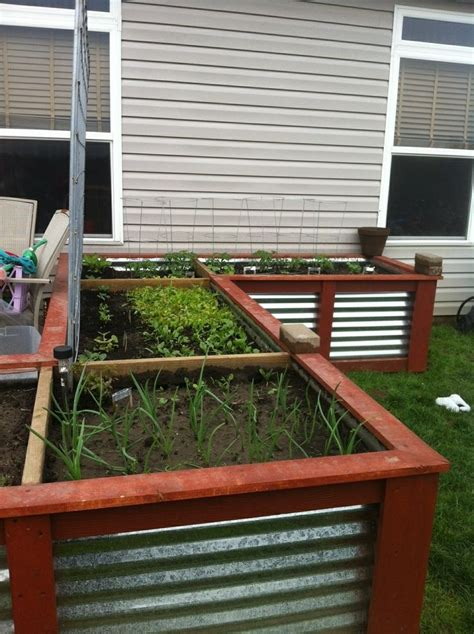 corrugated metal raised garden beds pin by christine lucas fultz on gardening pinterest
