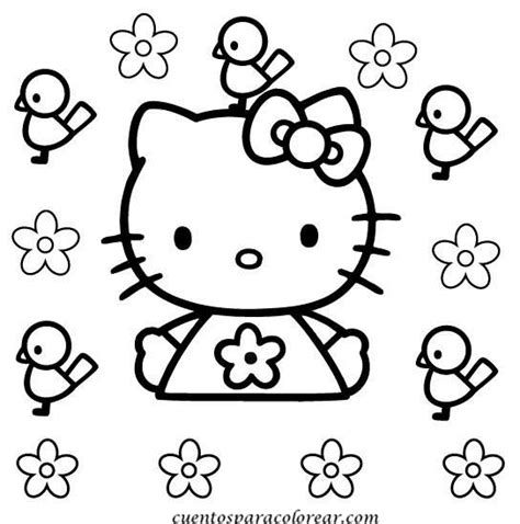 imagenes de kitty para iluminar dibujos para colorear hello kitty