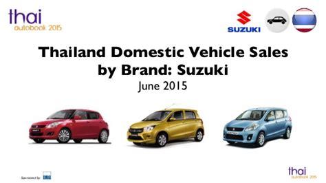 Car Sales Suzuki Thailand Car Sales Suzuki June 2015