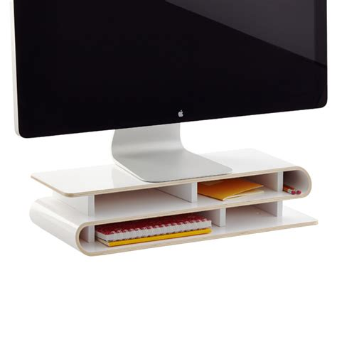 Three By Three White Up Rise Desktop Organizer The Container Store Desk Organizer
