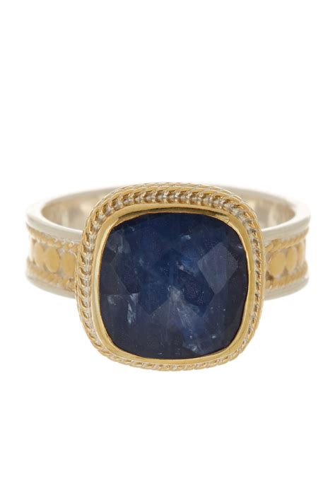 beck 18k gold plated sterling silver sapphire