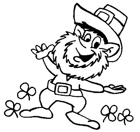 Leprechaun Coloring Sheet Leprechaun Coloring Pages To Print St Patrick39s Day