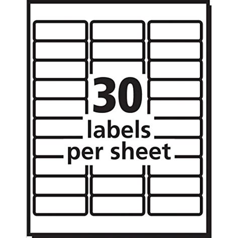 Avery Easy Peel White Mailing Labels For Laser Printers 1 X 2 62 1 X 4 Inch Label Template