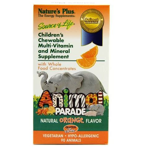Vitamin Anak Animal Parade nature s plus animal parade orange 90 chews evitamins