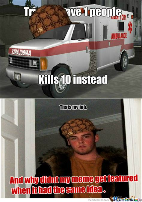 Ambulance Meme - rmx rmx scumbag gta ambulance by baatar meme center