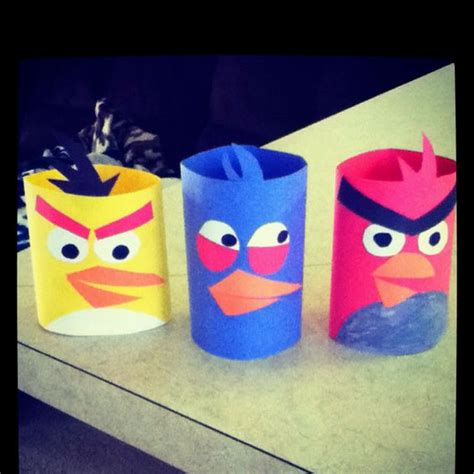 Crafts To Make With Construction Paper - me and my toddler made angry birds out of construction