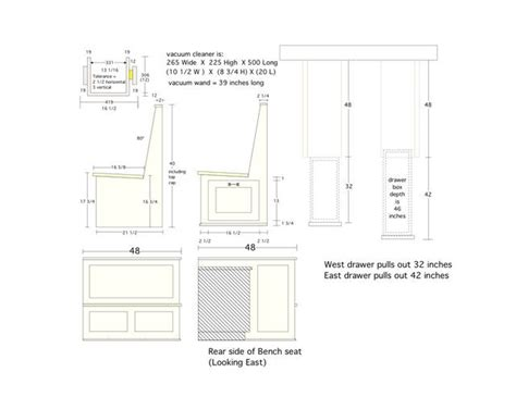Kitchen Booth Measurements Custom Booth Dimensions Kitchens Forum Gardenweb