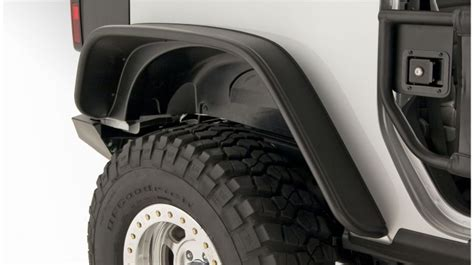 Jeep Oem Fender Flares Bushwacker Jeep Jk Flat Style Fenders Set Of 4 Oem Matte