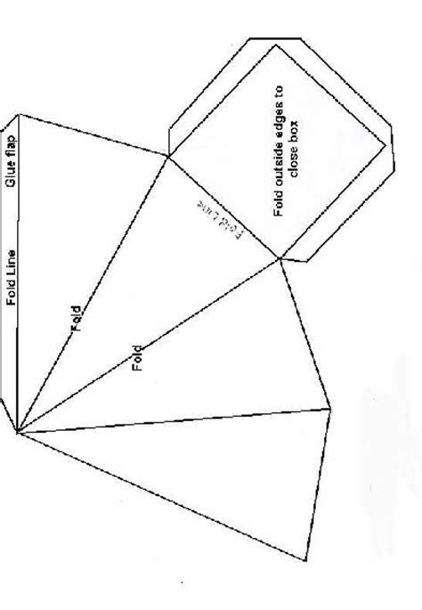 pattern for triangle box inked impressions pyramid box pattern