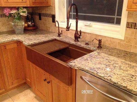 rachiele copper farm sinks workstation copper sinks with cutting boards and copper