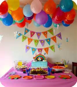 decorations take home decor rainbow birthday ideas for baby