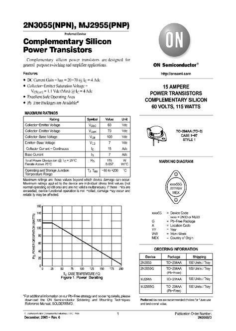 datasheet transistor 2n3055 for this datasheet power transistor 2n3055 power transistor 2n3055 images frompo