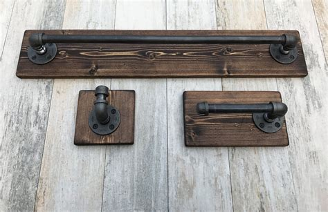 rustic bathroom set industrial modern rustic bathroom set of 3 towel holder toilet