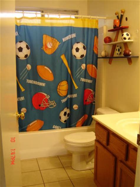 Sports shower curtain car interior design