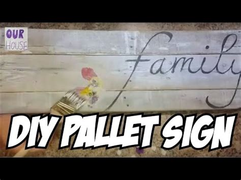 Decoupage Signs - how to make a pallet wood sign with decoupage ourhouse