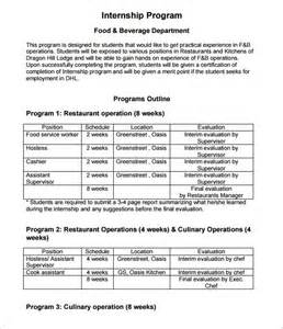 program outline template 9 free sle exle format