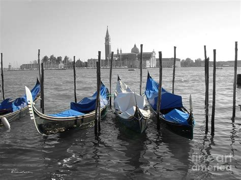 blue guide venice blue venice italy boats in black and blue photograph by robyn saunders