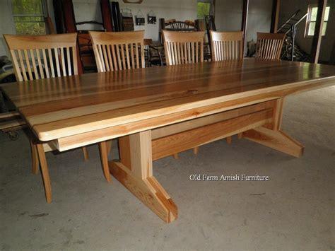 custom dining room table chairs   farm amish