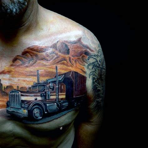 truck tattoo designs semi truck tattoos designs 60 truck tattoos for