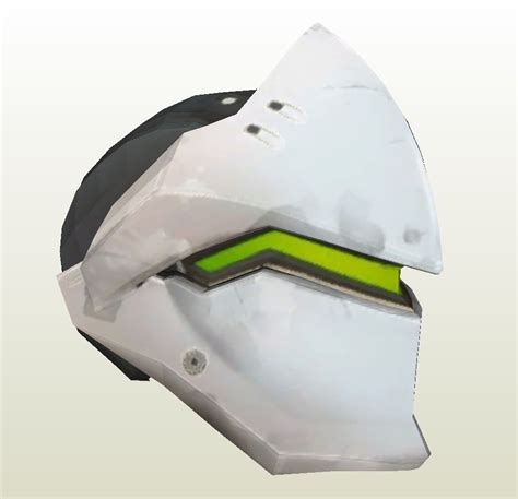 Papercraft Helmet Template - papercraft template for overwatch genji helmet