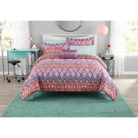 mainstays 7 ruth bedding comforter mainstays pink tribal bed in a bag comforter set walmart