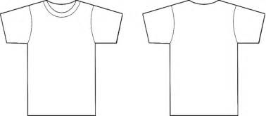 Shirt Template Back by Front Back T Shirt Template Clipart Best