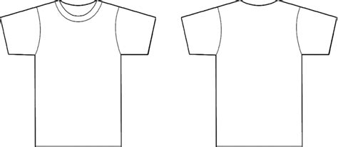T Shirt Outline Back by T Shirt Printing Templates Cliparts Co