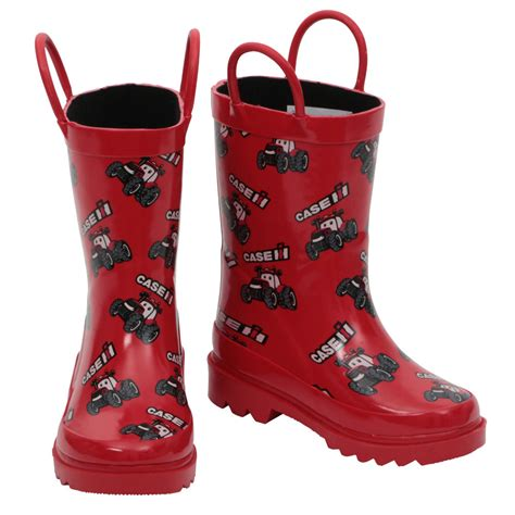 International Harvester Home Decor by Case Ih Big Red Kids Rain Boot