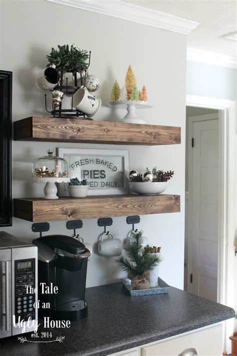 coffee nook ideas christmas in the kitchen farmhouse christmas tour