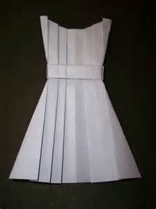 Origami Clothing - origami dress crafts clothes patterns