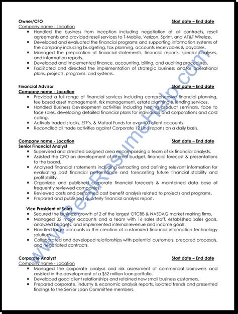 Resume Format Professional by Professional Analyst Resume Sle Real Resume Help