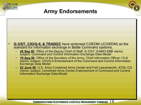 Endorsement Letter Army Army Data Strategy Status Update