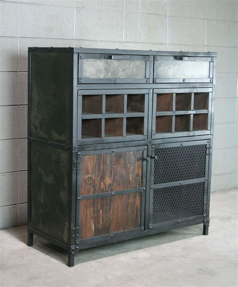 Metal Bar Cabinet Buy A Crafted Modern Industrial Liquor Wine Cabinet Vintage Style Bar Cart Reclaimed