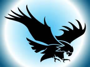 flying eagle silhouette vector art amp graphics freevector com