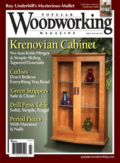 best woodworking magazines popular woodworking 196 april 2012 187 pdf magazines archive