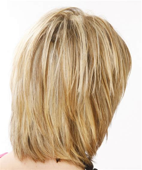 hairstyles back view medium length medium straight casual hairstyle with layered bangs