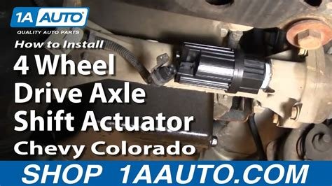 install replace  wheel drive axle shift actuator