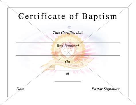 christening certificate template 620px