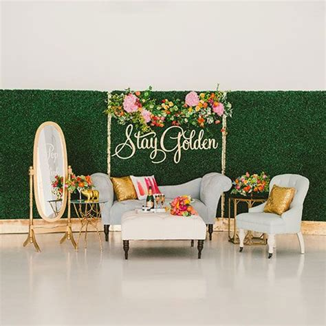 Wedding Lounge Backdrop by Hedges Boxwood Hedge And Backdrops On