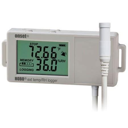 Hobo Ux100 Temp datenlogger und sensoren zur registrierung des raumklimas