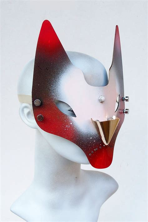 handmade feline mask horns fox cat venice