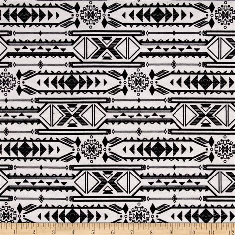 aztec print upholstery fabric ponte double knit aztec print black off white discount