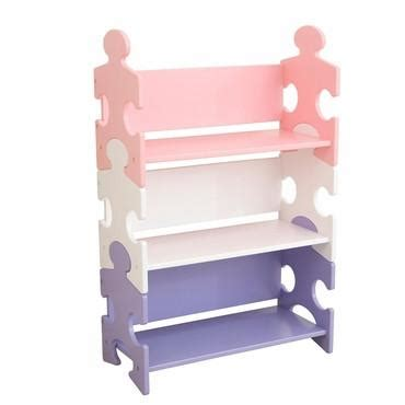 kidkraft 14415 puzzle bookcase pastel