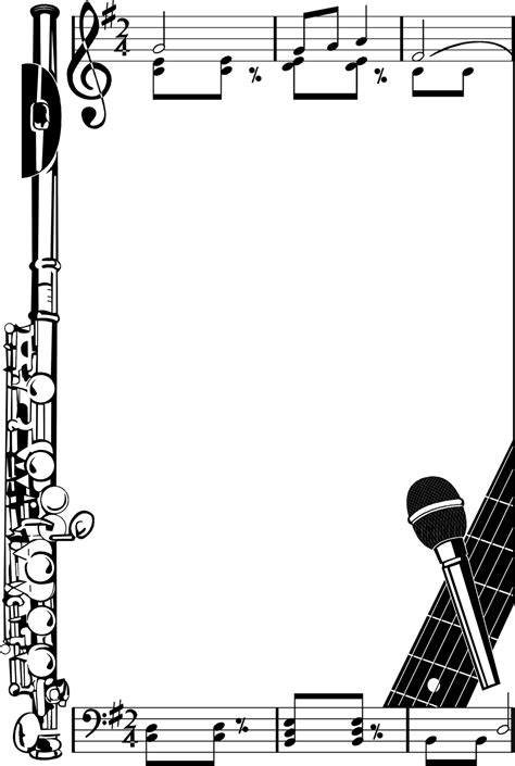 musical instrument border new calendar template site