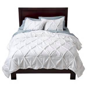 bedding at target pinched pleat comforter set threshold target